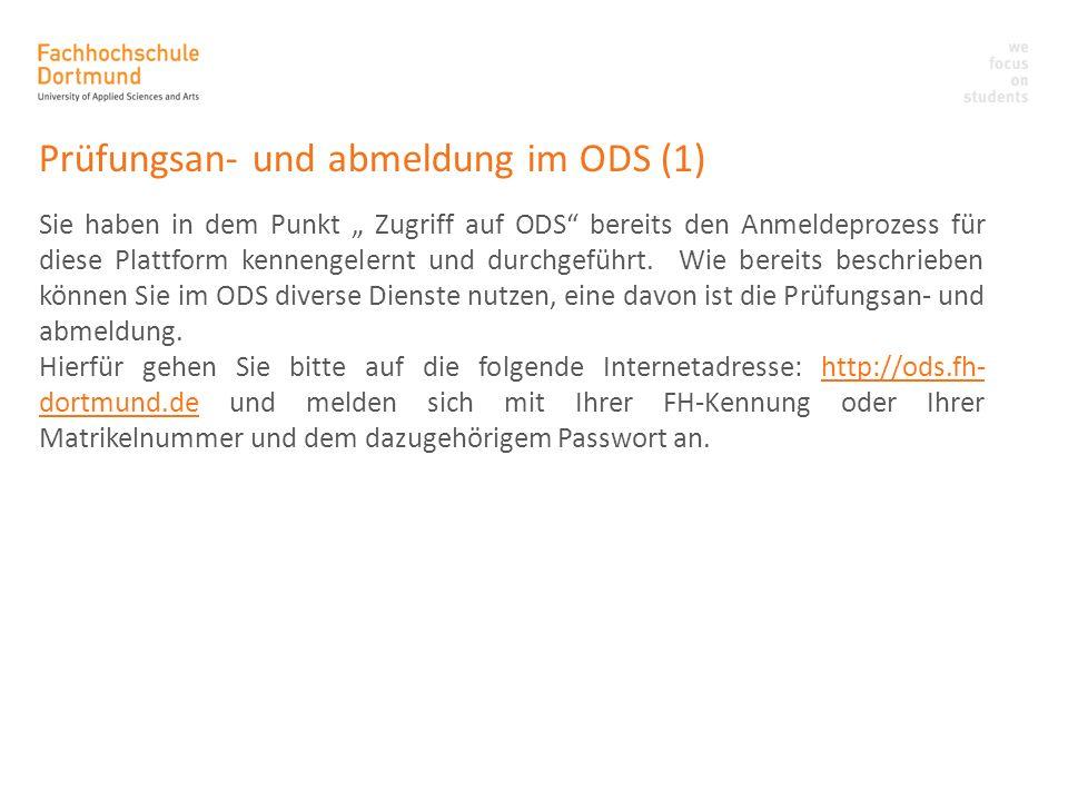 Prüfungsan- und abmeldung im ODS (1)