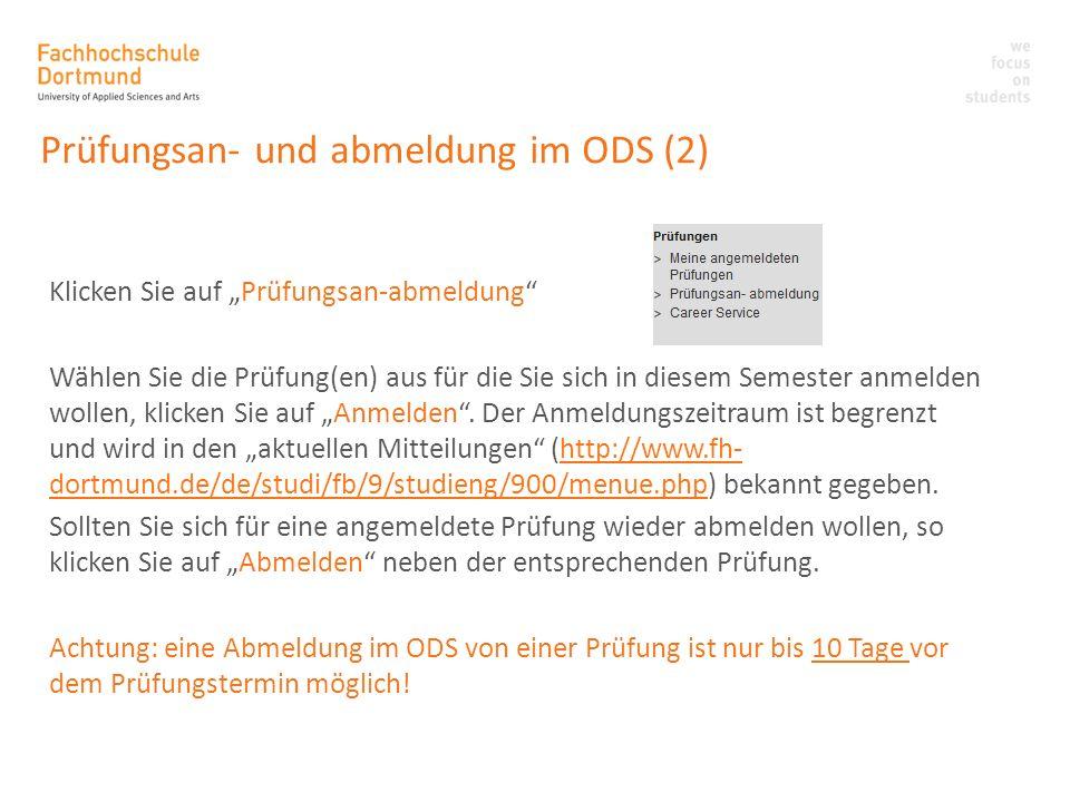 Prüfungsan- und abmeldung im ODS (2)