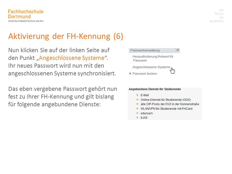 Aktivierung der FH-Kennung (6)