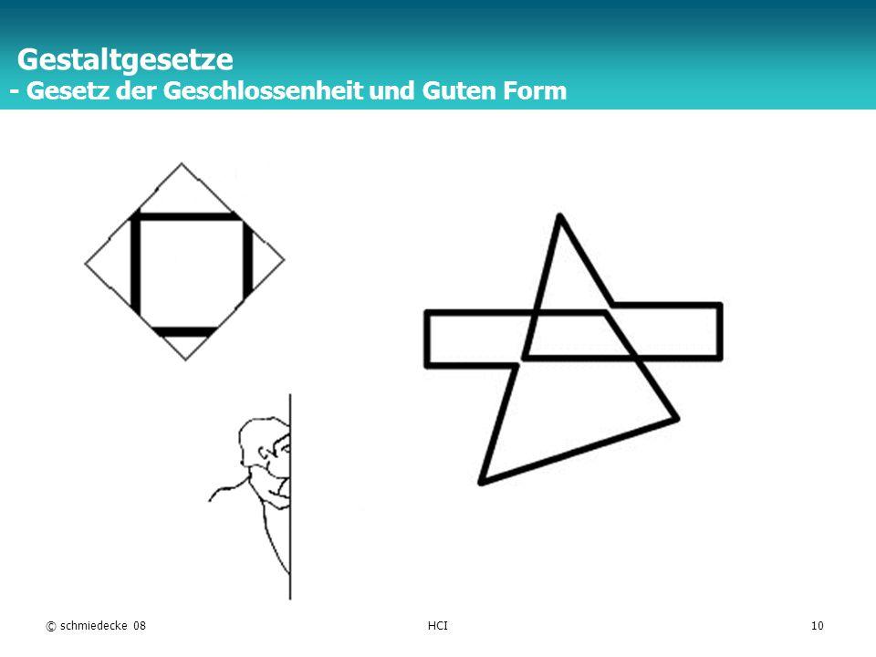 Gestaltgesetze - Gesetz der Geschlossenheit und Guten Form