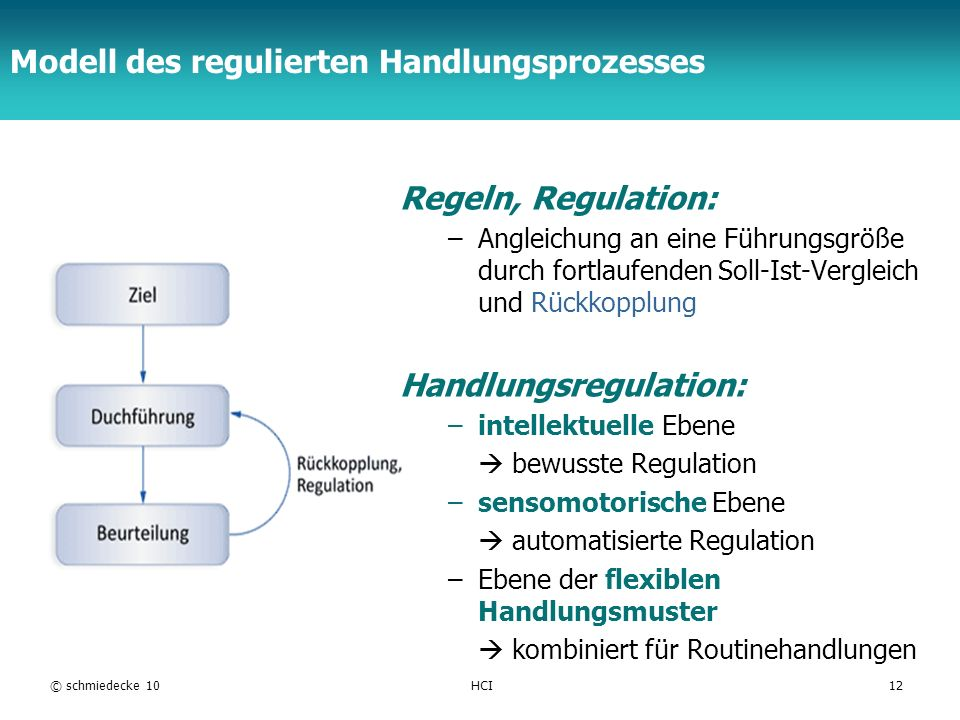 Modell des regulierten Handlungsprozesses