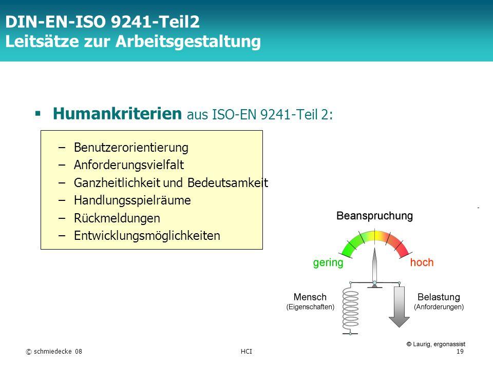 DIN-EN-ISO 9241-Teil2 Leitsätze zur Arbeitsgestaltung