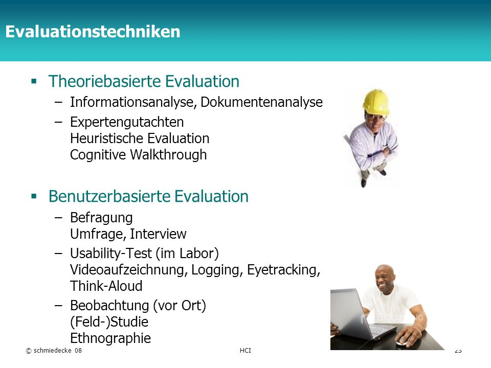 Evaluationstechniken