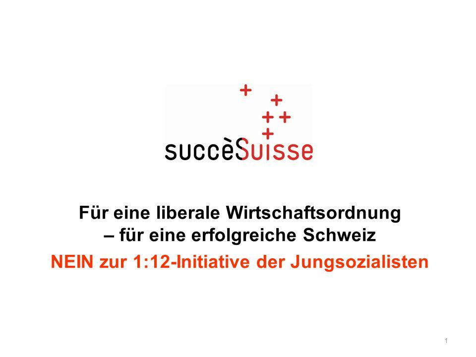 Für eine liberale Wirtschaftsordnung – für eine erfolgreiche Schweiz