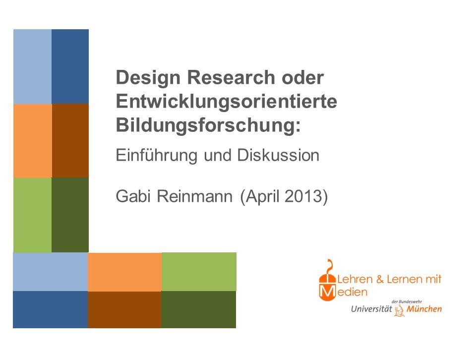Entwicklungsorientierte Bildungsforschung:
