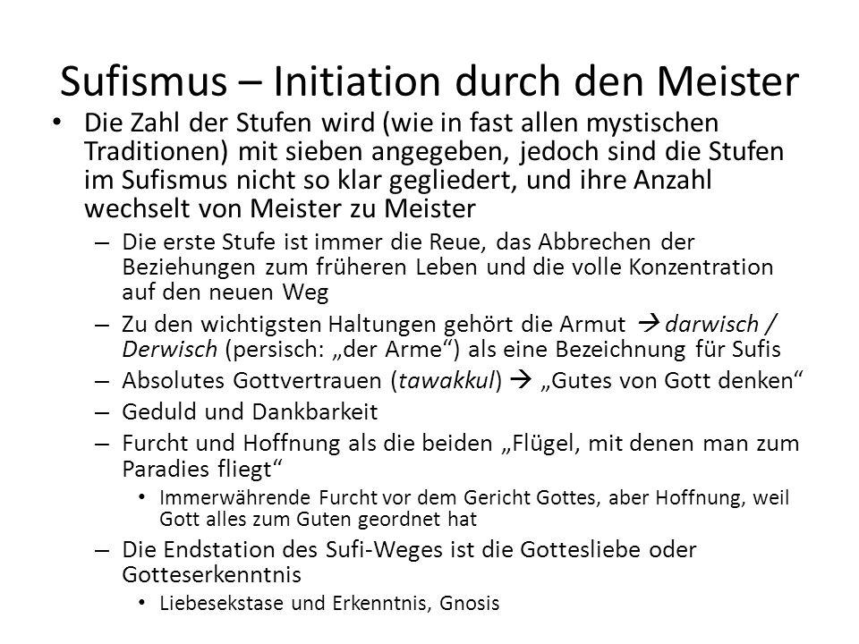 Sufismus – Initiation durch den Meister