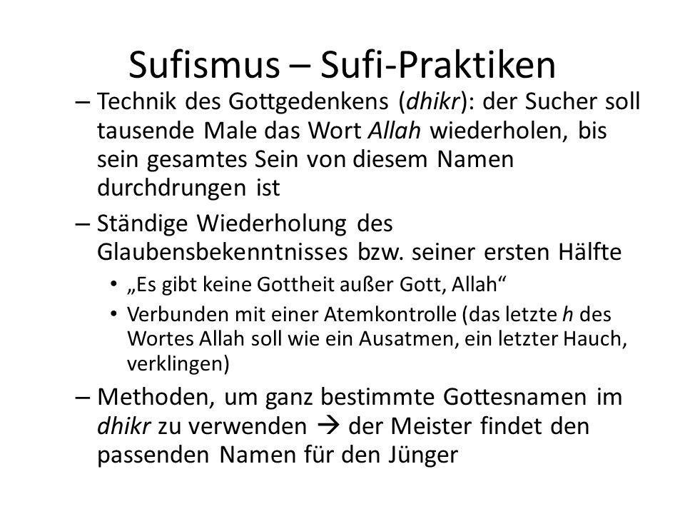 Sufismus – Sufi-Praktiken