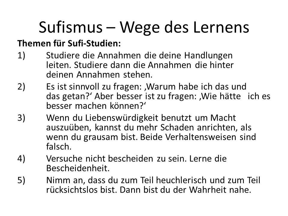 Sufismus – Wege des Lernens