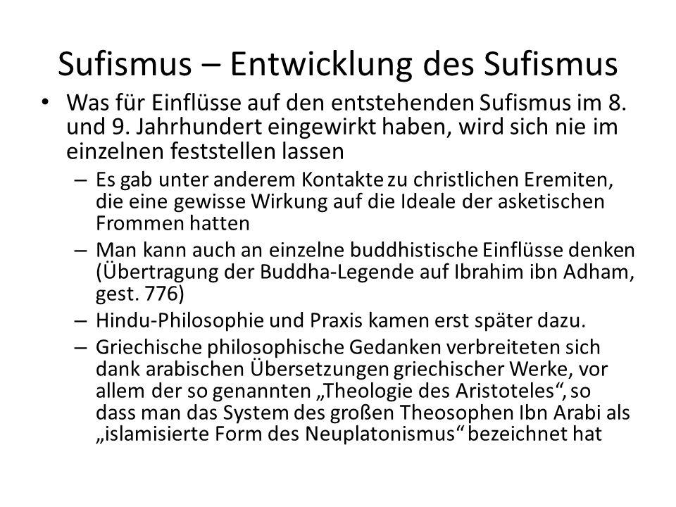 Sufismus – Entwicklung des Sufismus