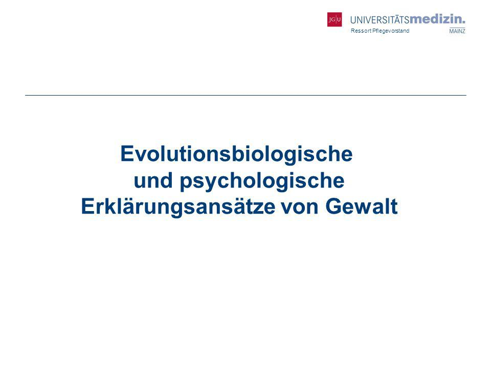Evolutionsbiologische und psychologische Erklärungsansätze von Gewalt