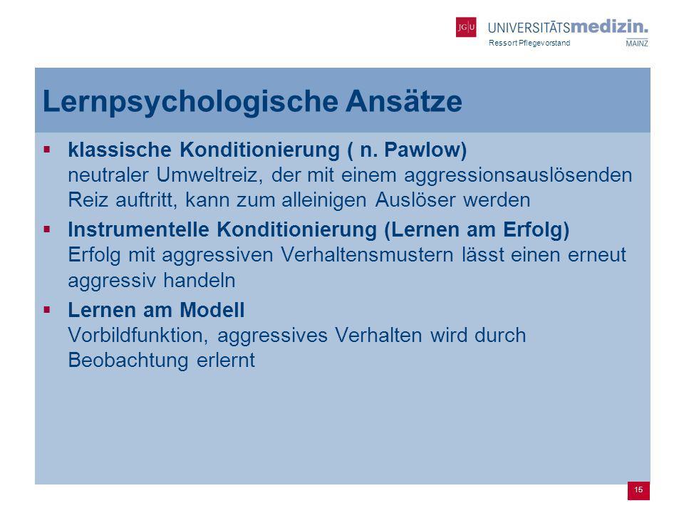Lernpsychologische Ansätze