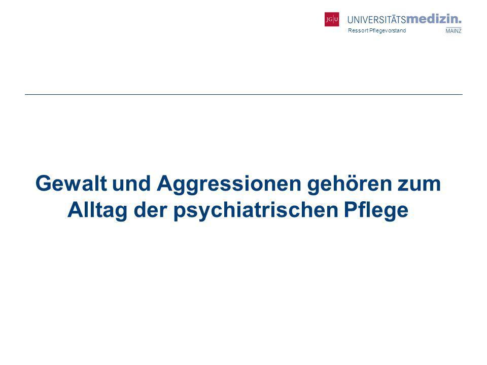 Gewalt und Aggressionen gehören zum Alltag der psychiatrischen Pflege