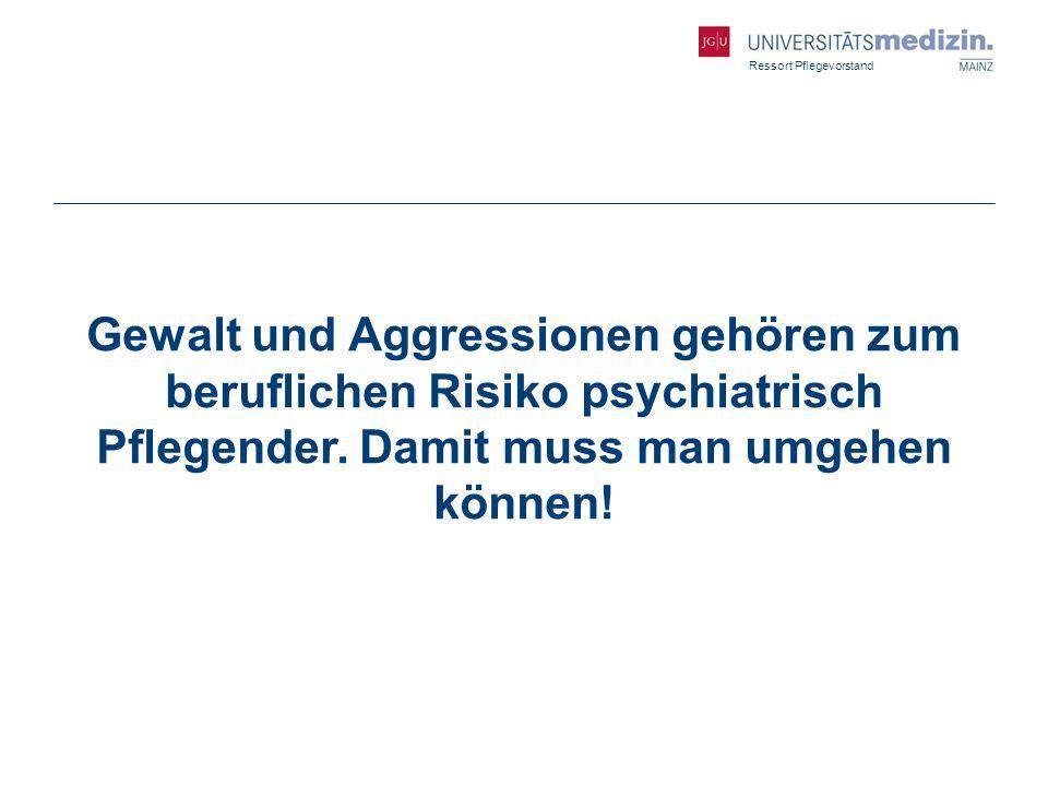 Gewalt und Aggressionen gehören zum beruflichen Risiko psychiatrisch Pflegender.
