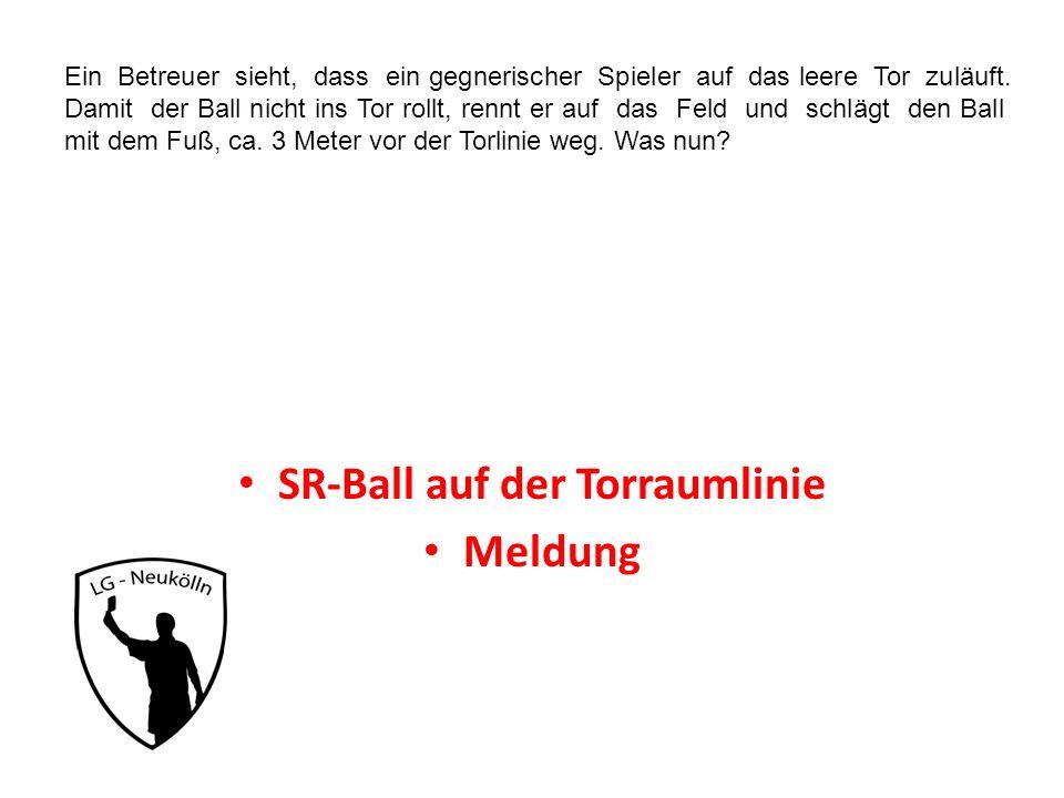 SR-Ball auf der Torraumlinie
