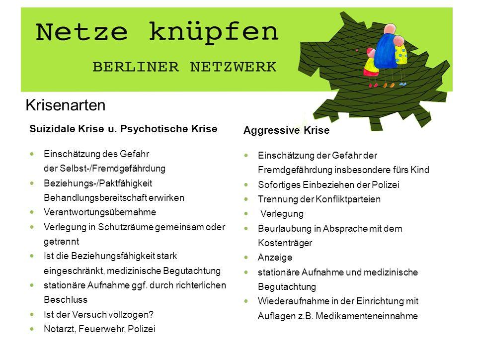 Krisenarten Suizidale Krise u. Psychotische Krise Aggressive Krise
