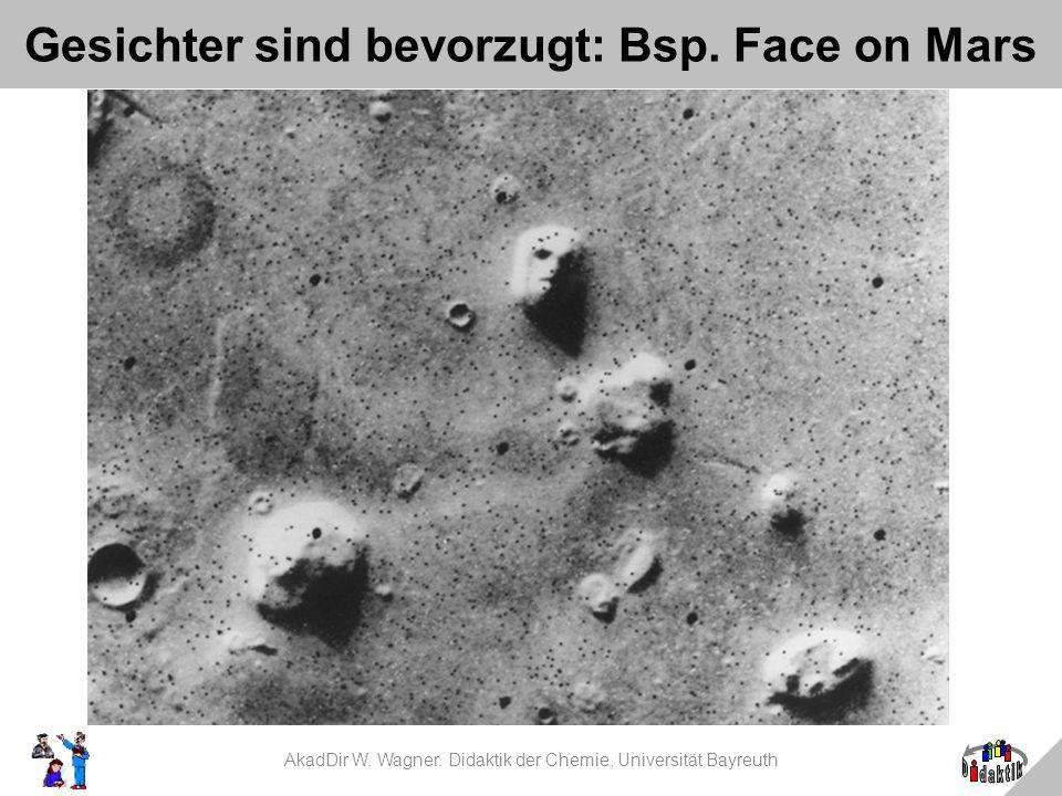 Gesichter sind bevorzugt: Bsp. Face on Mars