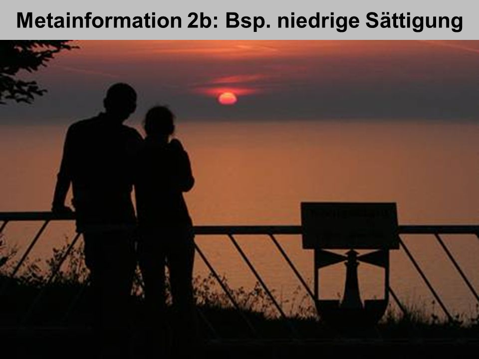 Metainformation 2b: Bsp. niedrige Sättigung