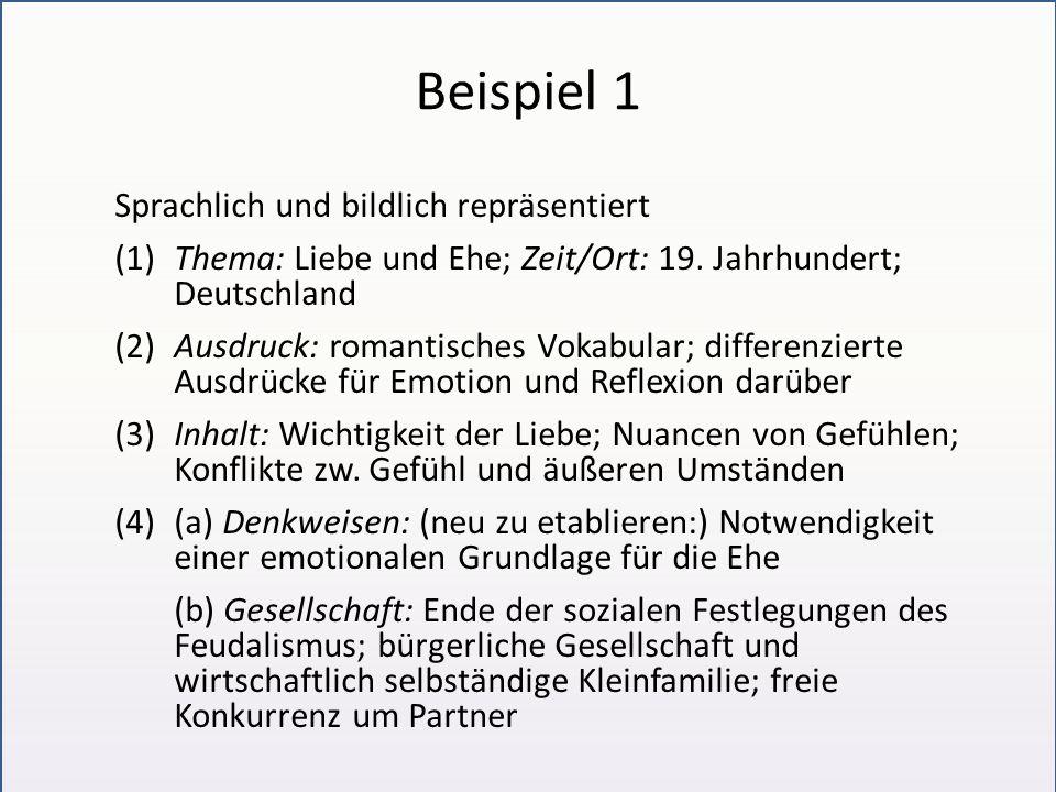 Beispiel 1 Sprachlich und bildlich repräsentiert