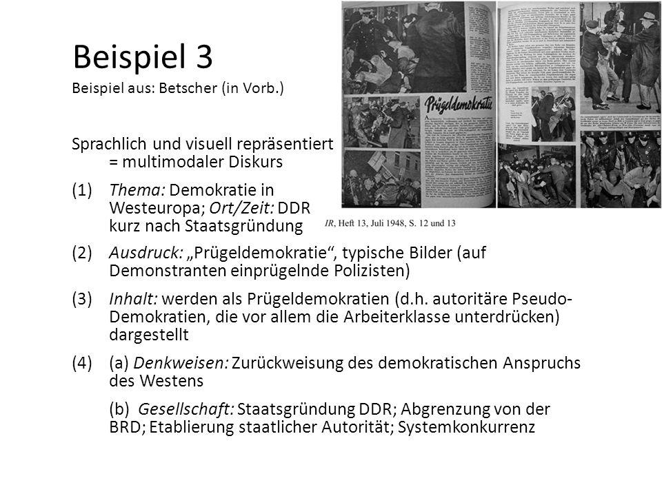 Beispiel 3 Beispiel aus: Betscher (in Vorb.)