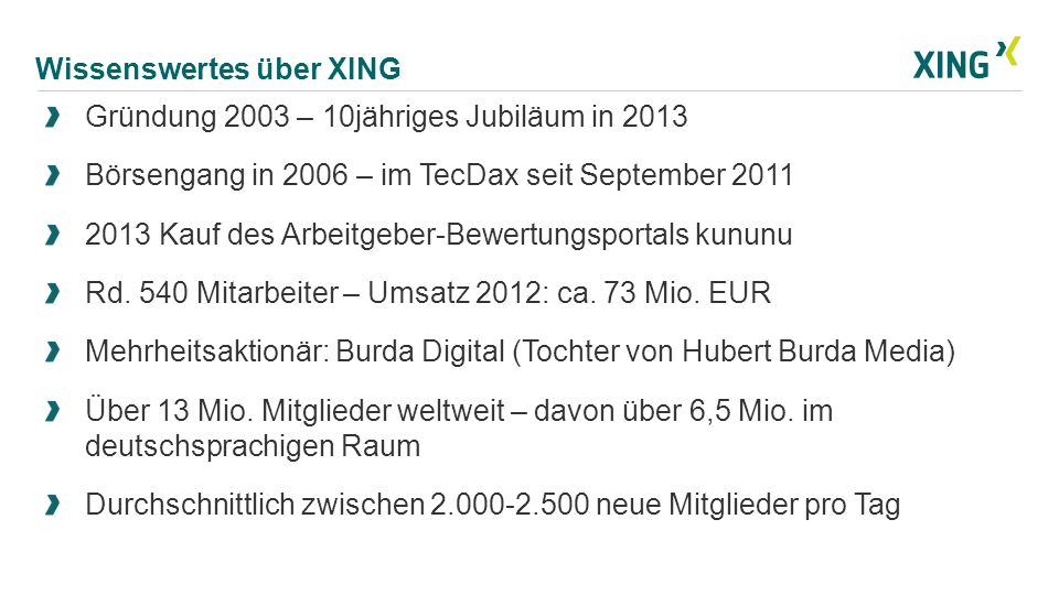 Wissenswertes über XING