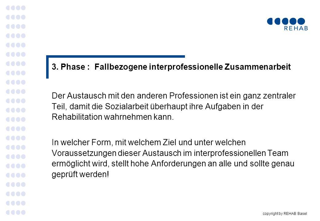 3. Phase : Fallbezogene interprofessionelle Zusammenarbeit