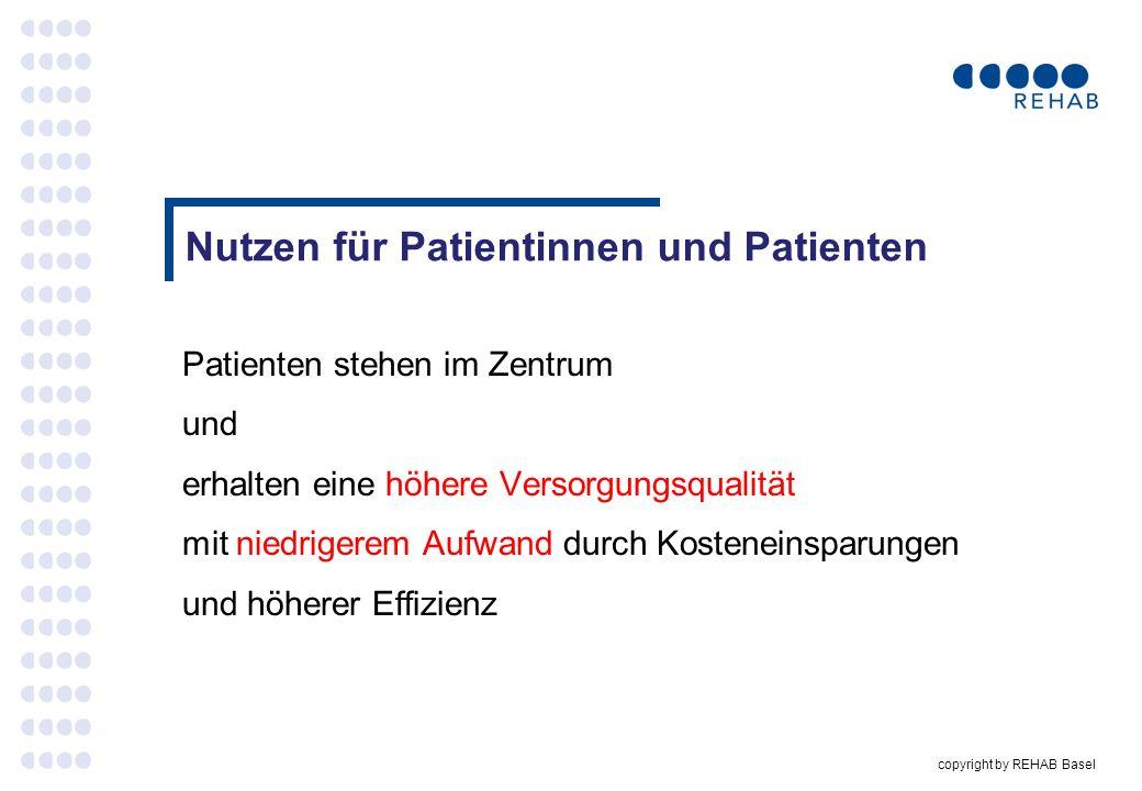 Nutzen für Patientinnen und Patienten