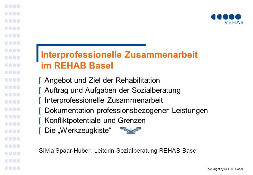 Interprofessionelle Zusammenarbeit im REHAB Basel