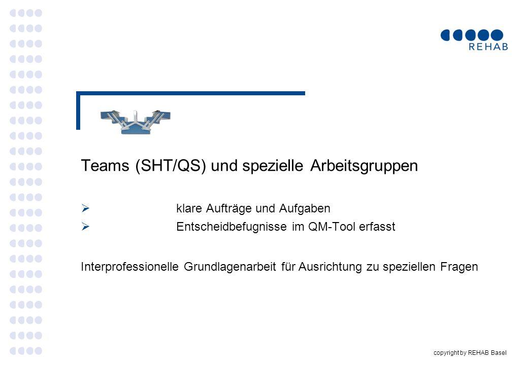 Teams (SHT/QS) und spezielle Arbeitsgruppen
