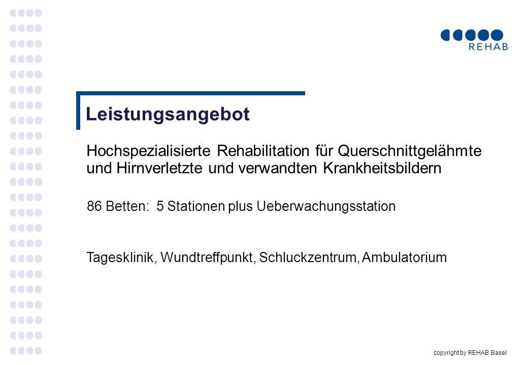 Leistungsangebot Hochspezialisierte Rehabilitation für Querschnittgelähmte und Hirnverletzte und verwandten Krankheitsbildern.