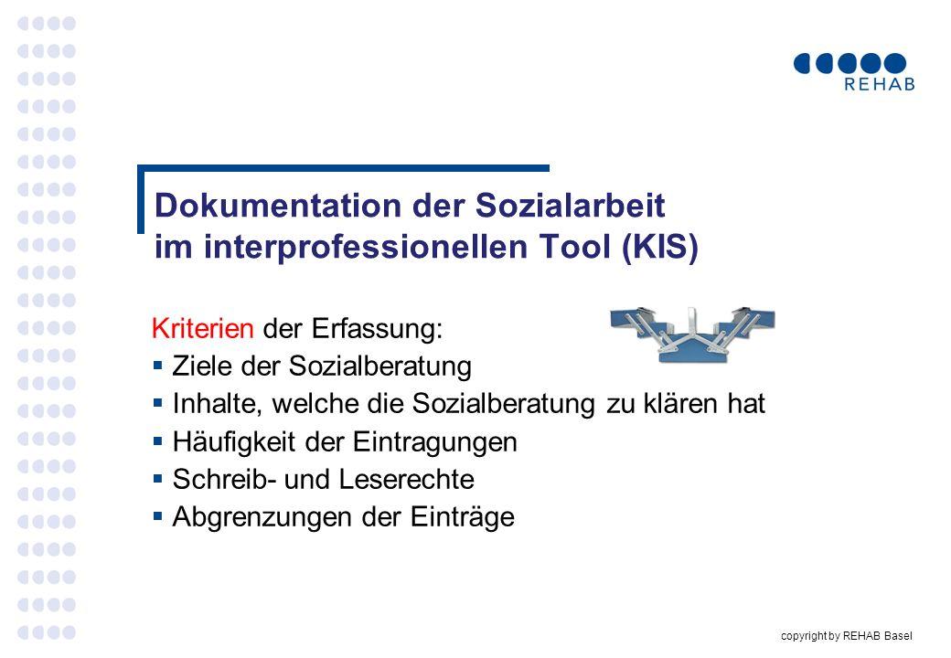 Dokumentation der Sozialarbeit im interprofessionellen Tool (KIS)