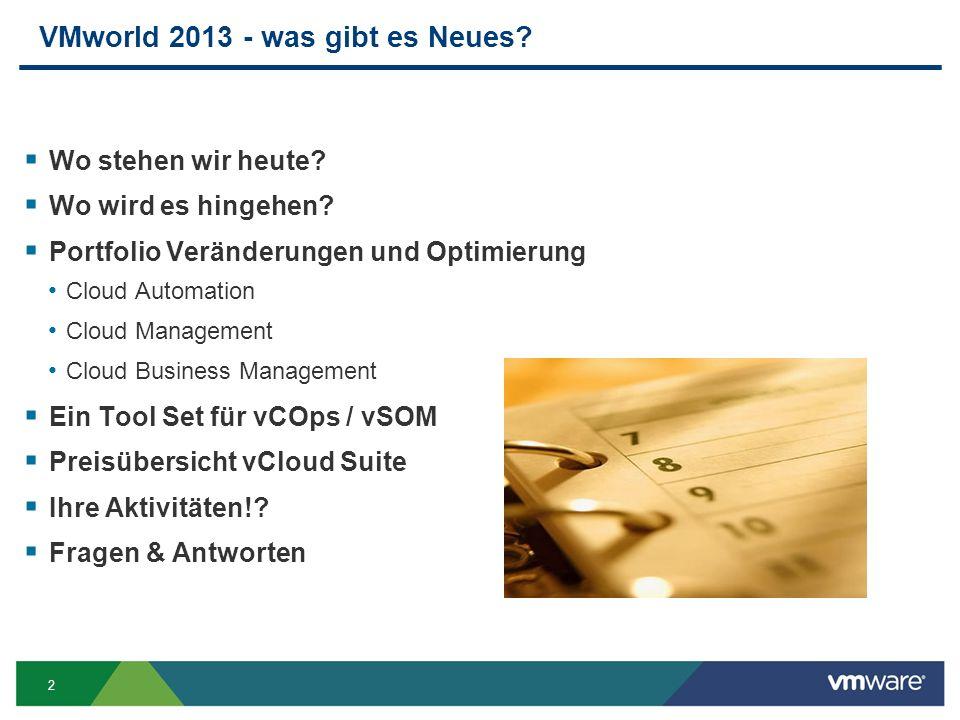 VMworld 2013 - was gibt es Neues
