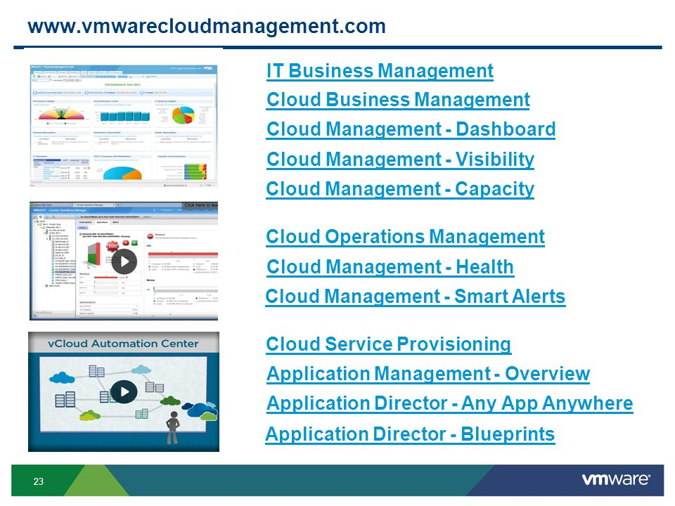 www.vmwarecloudmanagement.com IT Business Management