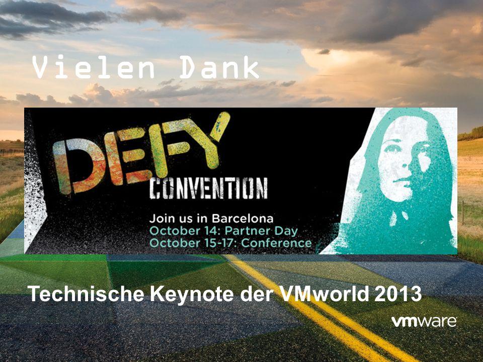 Vielen Dank Technische Keynote der VMworld 2013