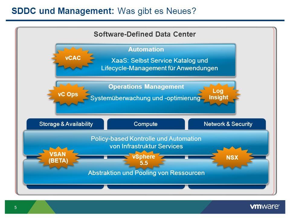 SDDC und Management: Was gibt es Neues