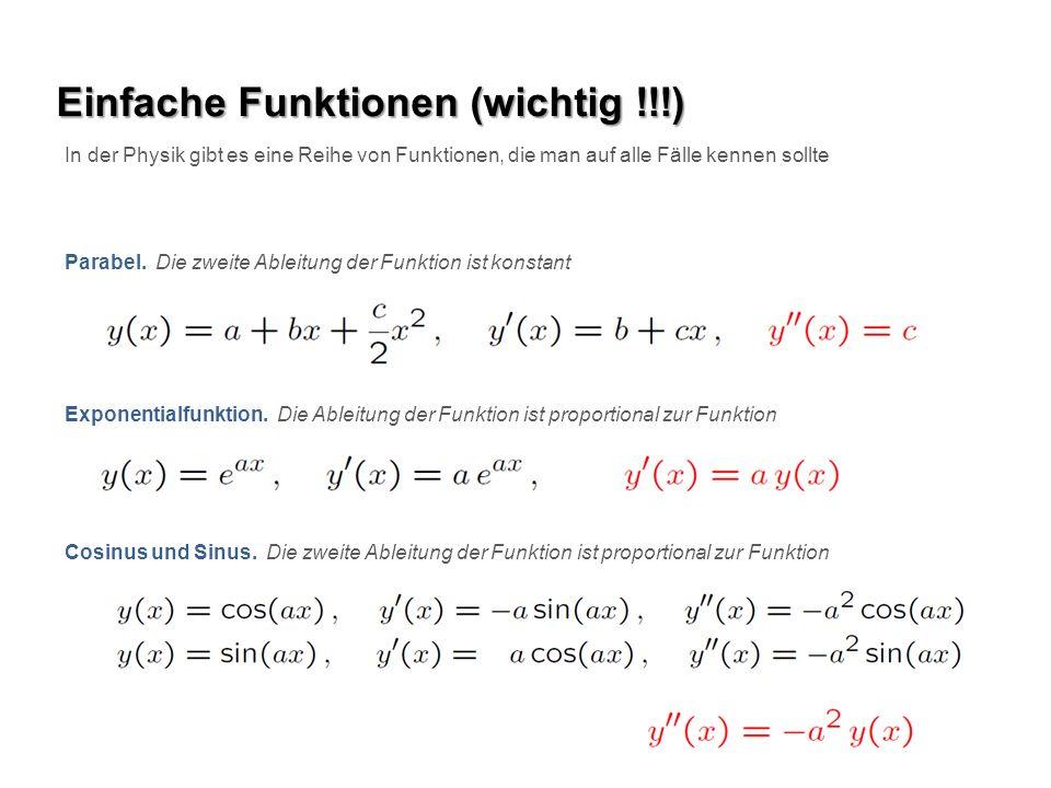 Einfache Funktionen (wichtig !!!)