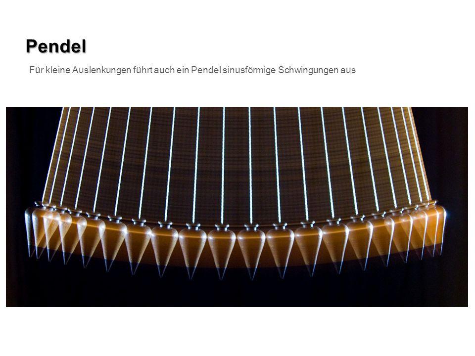 Pendel Für kleine Auslenkungen führt auch ein Pendel sinusförmige Schwingungen aus