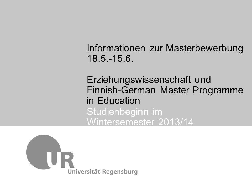 Studienbeginn im Wintersemester 2013/14