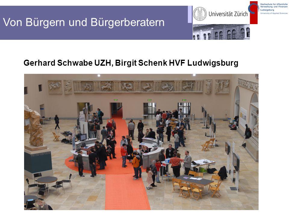 Kopfzeile Gerhard Schwabe UZH, Birgit Schenk HVF Ludwigsburg