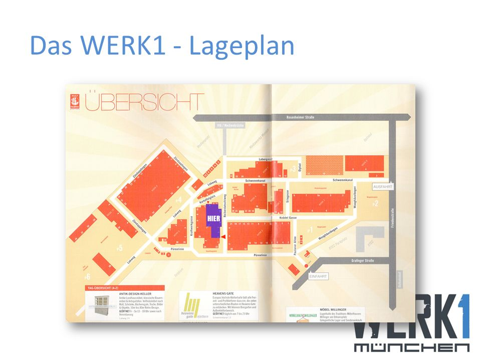 Das WERK1 - Lageplan