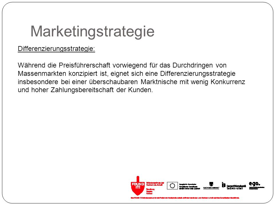 Marketingstrategie Differenzierungsstrategie: