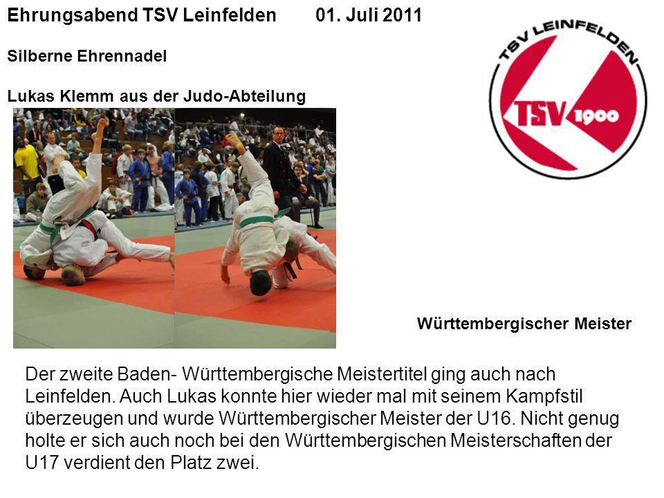 Ehrungsabend TSV Leinfelden 01. Juli 2011