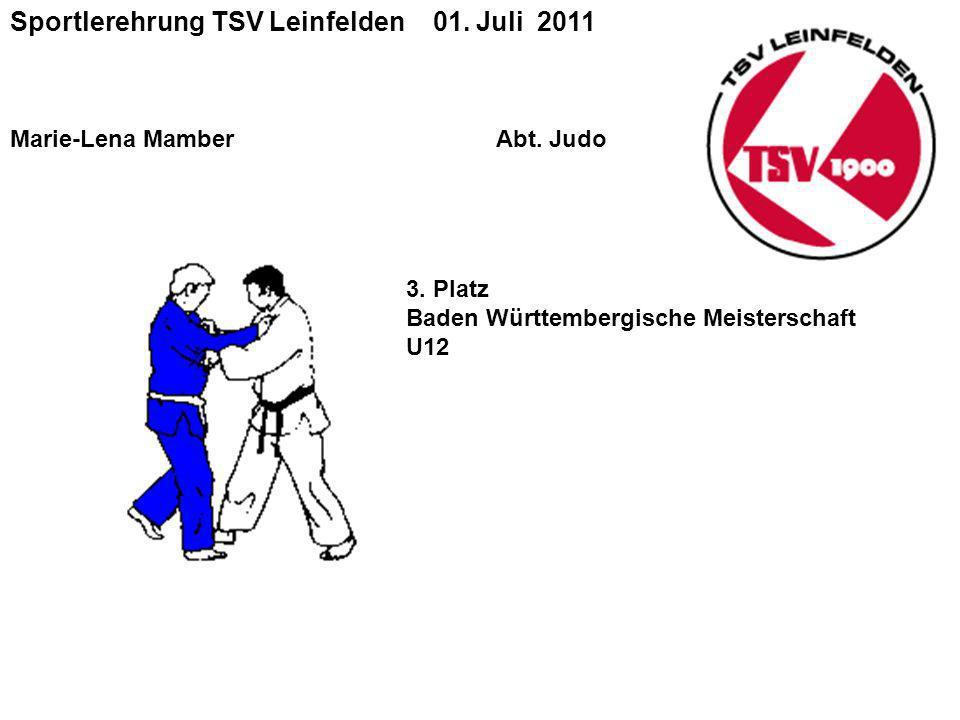 Sportlerehrung TSV Leinfelden 01. Juli 2011