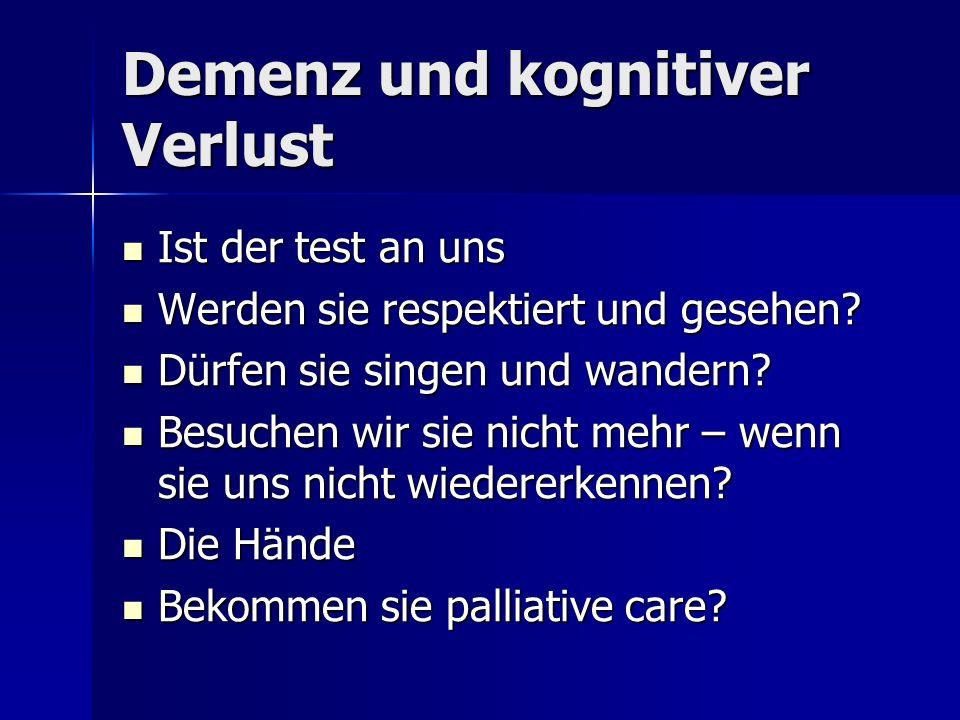 Demenz und kognitiver Verlust