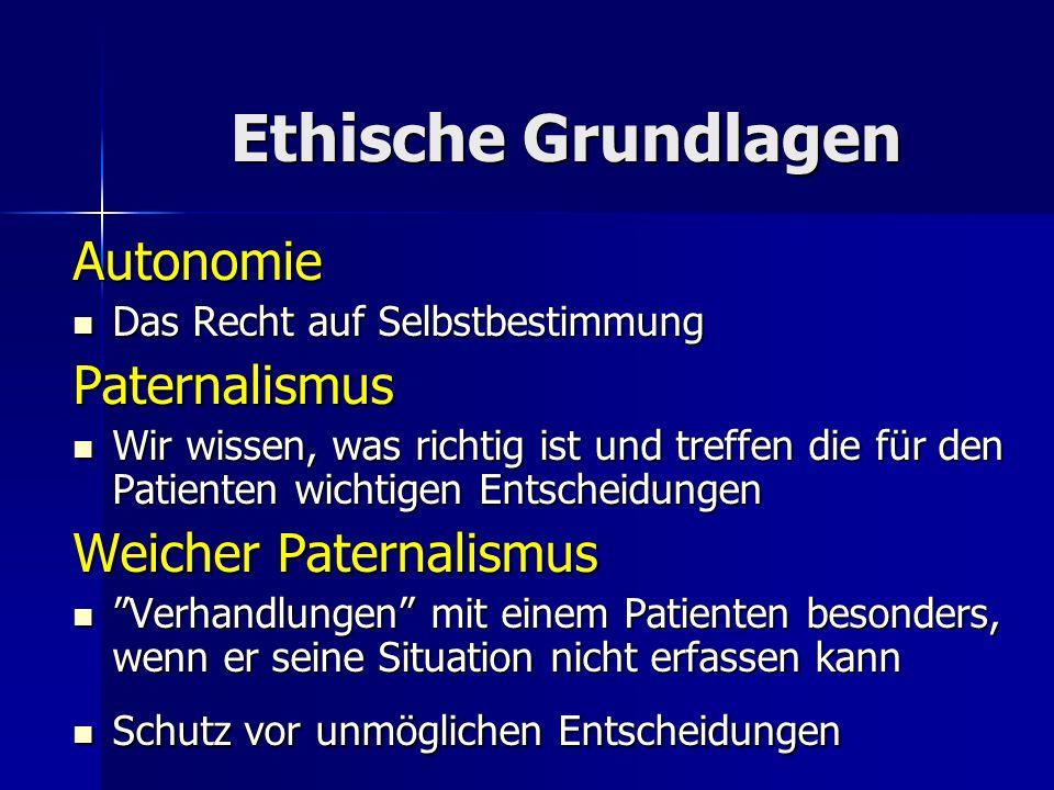 Ethische Grundlagen Autonomie Paternalismus Weicher Paternalismus