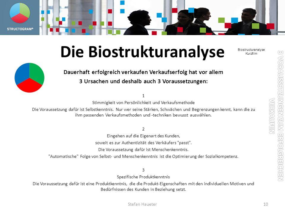 Die Biostrukturanalyse
