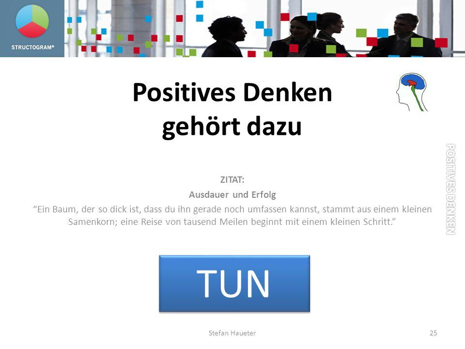 Positives Denken gehört dazu