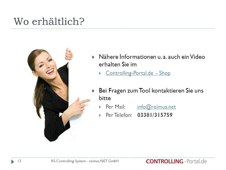 Wo erhältlich Nähere Informationen u. a. auch ein Video erhalten Sie im. Controlling-Portal.de - Shop.