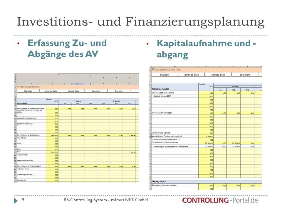 Investitions- und Finanzierungsplanung