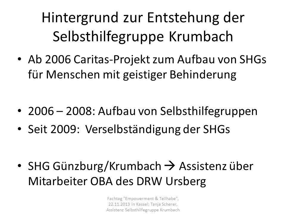 Hintergrund zur Entstehung der Selbsthilfegruppe Krumbach