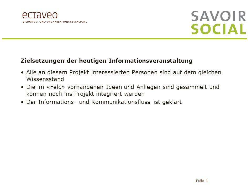 Zielsetzungen der heutigen Informationsveranstaltung